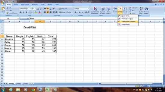 Ms Excel 5.7